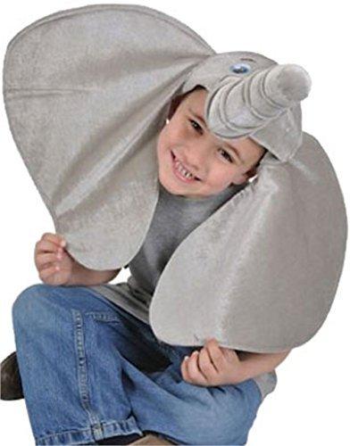 Stuffed Plush Elephant Hat Costume Party Cap by Rhode Island Novelty - Rhode Island Costume