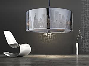 xxl skyline luxus h ngelampe h ngeleuchte new york deckenlampe lampe 50cm lounge. Black Bedroom Furniture Sets. Home Design Ideas
