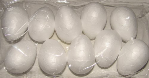 Bastelbedarf: Styroeier 4cm, weiß, 10er Pack