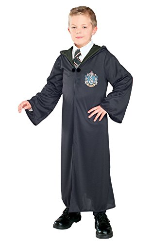 Click for larger image of Rubie's Official Harry Potter - Slytherin Robe, Childrens Costume, Size Small - 147cm - Ages 8-10