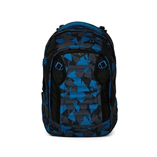 satch Match Facelift ergonomischer Schulrucksack für Teenager - Blue Triangle