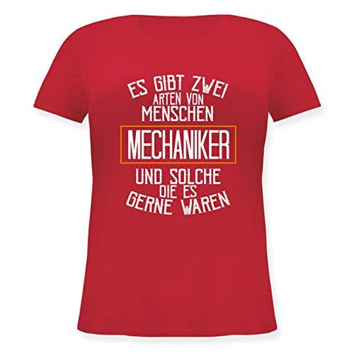 wei Arten von Menschen, Mechaniker und solche die es gerne wären - S (44) - Rot - JHK601 - Lockeres Damen-Shirt in großen Größen mit Rundhalsausschnitt ()