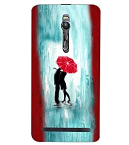 PrintDhaba LOVE COUPLE D-6695 Back Case Cover for ASUS ZENFONE 2 (Multi-Coloured)