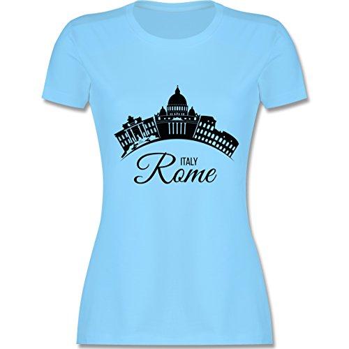 Skyline - Skyline Rome Italien Italy - tailliertes Premium T-Shirt mit  Rundhalsausschnitt für Damen