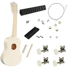 MagiDeal DIY 21inch Basswood Soprano Kits Ukulele Hecho a Mano Regalo de Instrumento Musical para Amigos