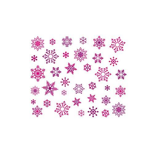 Aiming Weihnachten Schneeflocken-Nagel-Aufkleber Blumen-Nagel-Wraps Kunst-Abziehbilder Tatoos Partei-Maniküre-Werkzeug (Einfache Halloween-nägel Für Anfänger)