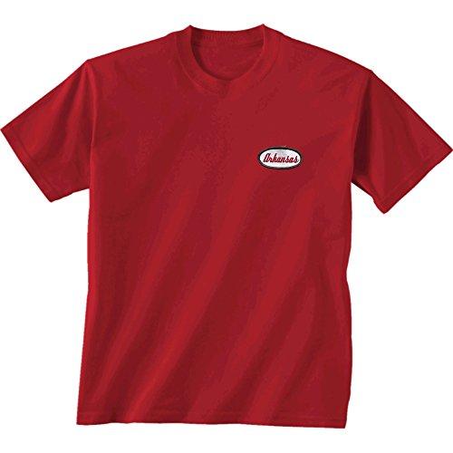 New World Grafiken Arkansas NCAA Mechaniker Short Sleeve, Unisex, Arkansas Mechanic, Scharlachrot -
