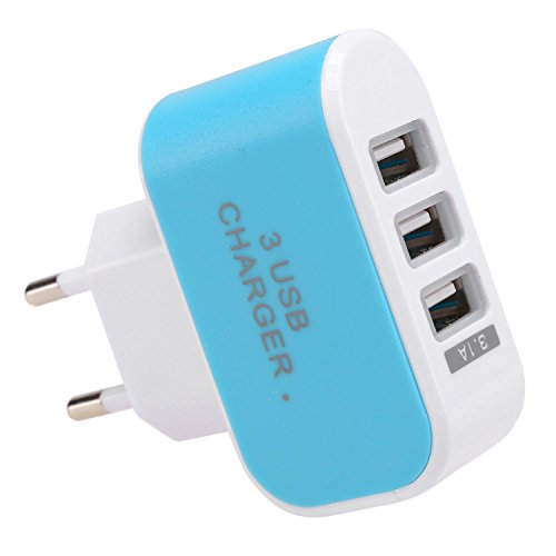 Adattatore per Caricabatterie da Viaggio a 3 Porte USB
