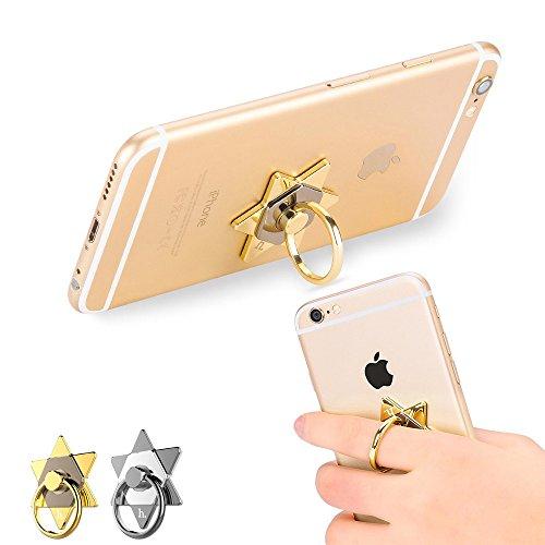 thanly Esagramma portatile per Grip supporto Multi-Angle Anelli di rotazione di 360gradi staffa di supporto per BlackBerry iPhone Samsung S7S6Edge Plus S5S4S3Note 2345HTC LG - Portatile Dog Bath