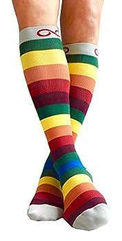 Kompression Socken (1Paar) Für Männer & Frauen Von Infinity–Beste Für Running, Krankenschwestern, Tibiakantensyndrom, Flight Travel, Skifahren & Mutterschaft Schwangerschaft–Boost Athletic Ausdauer Und Wiederherstellung 5