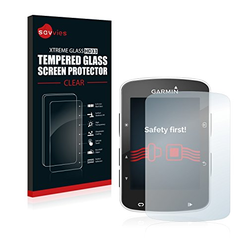 Savvies Film Protection Verre Trempé Garmin Edge 520 / Garmin Edge 820 Film Vitre Protection Écran - Dureté 9H