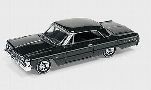 chevrolet-impala-schwarz-1964-modellauto-fertigmodell-auto-world-164