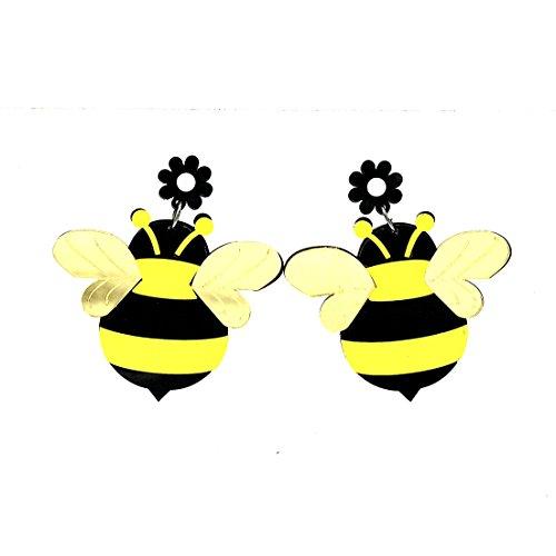 Jewellery Mädchen-Ohrstecker mit großer Biene aus Acryl ()