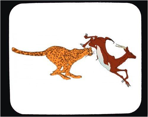 Mauspad mit Dekoration - Jagd, Tiere, Gazelle, Beute, Cheetah, Raubtier, Säugetiere