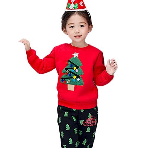 Mom-kinder Sweatshirt (PanpanBox Weihnachten KleidungPullover FamilieOutfits Langarmshirt Kinder Eltern Jungen Mädchen Sweatshirt Damen Herren PartnerlookTops (F (Mom), rot))