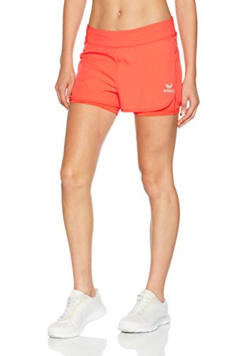 erima Damen Masters 2 in 1 Koralle Short, Hot Coral, 38 (Shorts Mikrofaser-tennis)