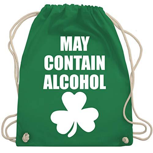 St. Patricks Day - May contain alcohol - Unisize - Grün - WM110 - Turnbeutel & Gym Bag