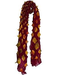 Crafts Galore by Fabucrafts - Estola - para mujer negro Red, Orange, Grey Talla única