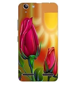 ColourCraft Love Flowers Design Back Case Cover for LENOVO VIBE K5 PLUS