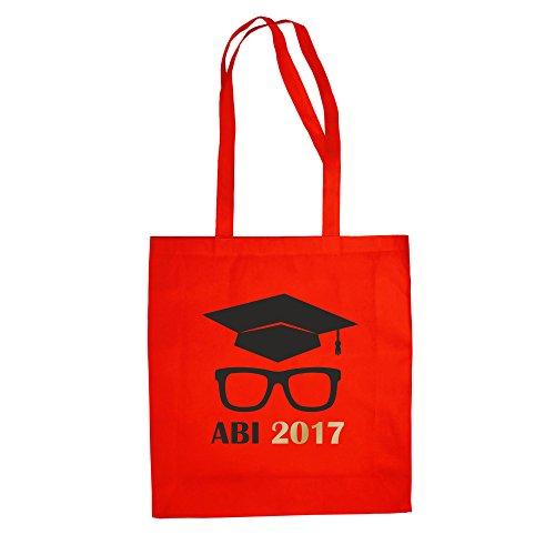 Borsa Di Cotone - Diploma Di Scuola Superiore 2017 Con Cappello Da Medico E Occhiali - Dal Reparto Camicia Rosso-oro