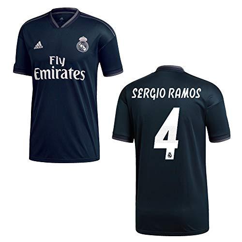 adidas REAL Madrid Trikot Away Kinder 2019 - Sergio Ramos 4, Größe:140 (Madrid Real Adidas Kinder Trikot)