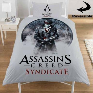 Set copripiumino per letto singolo, motivo Assassins Creed Syndicate
