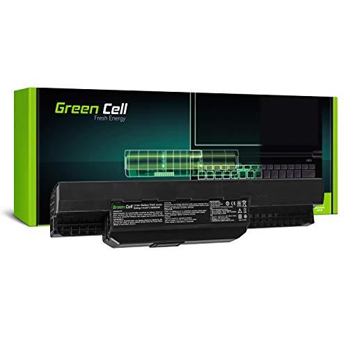 Green Cell® Standard Serie A32-K53 A41-K53 Batería para ASUS K53 K53E K53S K53SJ K53SV K53U X53 X53S X53SV X53U X54 X54C X54F X54H X54L Ordenador (6 Celdas 4400mAh 10.8V Negro)