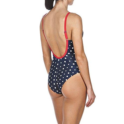 arena Damen Punkte Badeanzug Navy/Red