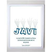Cuadro de huellas personalizado para regalos de profesores, comuniones, bautizos, cumpleaños. Tintas incluidas