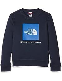 The North Face Y Box Crew Sudadera, Niños, Azul Mar, XS