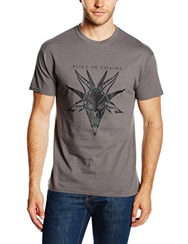 Unbekannt Herren T-Shirt Skull Charcoal Grau - Grau (Anthrazit)