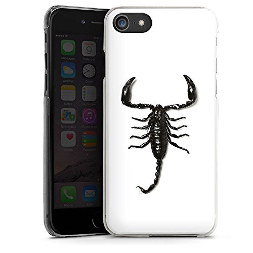 Apple iPhone X Silikon Hülle Case Schutzhülle Skorpion Scorpion Schwarz Hard Case transparent