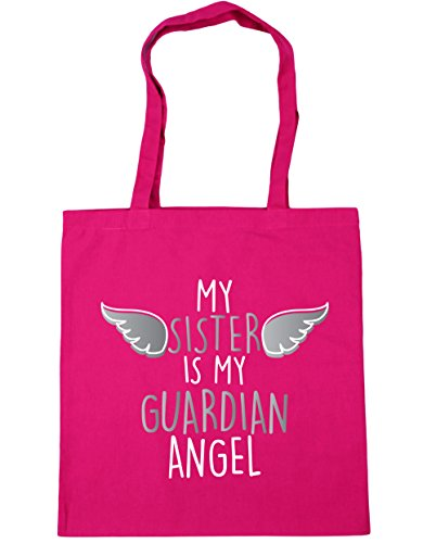 hippowarehouse-my-sister-is-my-guardian-angel-heaven-tote-shopping-gym-beach-bag-42cm-x38cm-10-litre