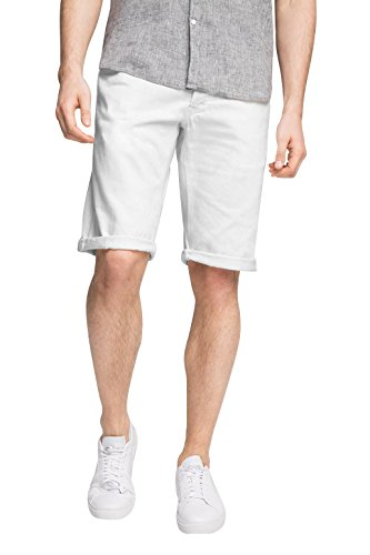 edc by ESPRIT Herren Shorts Weiß (White 100)