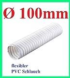 PVC Flexrohr Flex Flexibler Ø 100 mm 10cm Rohr 3 m Meter Länge Flexschlauch Schlauch Abzug