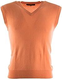 Jersey sin mangas para hombre, de punto, 100 % cachemira pura, cuello de pico, doble hilo, diseñado en Escocia