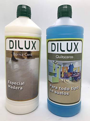 Dilux - Pack Barniz Cera para suelos de madera 1 L +...