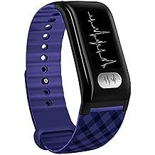 XYZY Monitor de Actividad Impermeable Pulsera Inteligente,Hombres Mujer Calorías Al Aire Libre Reloj Deportivo