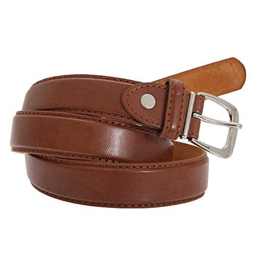 Forest Belts - Cinturon de cuero-piel autentica para caballero/hombre Modelo Bosque hombre caballero (XL 102-112cm) (Marrón tostado)
