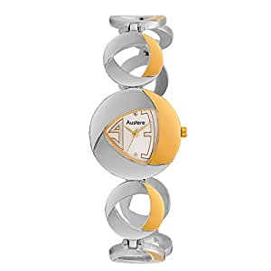 Austere ENYA Analogue White Dial Women's Watch (WEN-0707GS)