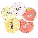 Lurrose 5 pezzi cuffia da doccia impermeabile frutta cuffia da bagno cappello da bagno con anguria di limone e più modello per adulti