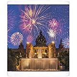 Photo Mug of Fireworks, Montjuic, Barcelona, Catalonia, Spain, Europe