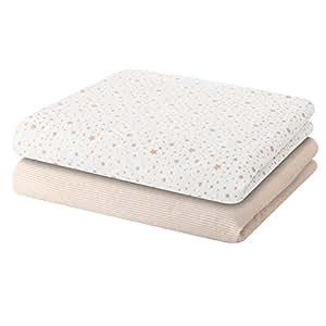 Bellybutton - Couverture bébé - Lot de 2 couvertures Etoiles taupes