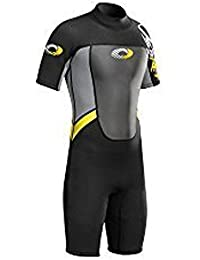 Adults Mens Osprey Origin 3/2mm Short Sleeve / Shorty Wetsuit (Yellow (Mens), Small - 36.5 Chest)