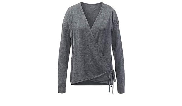 CURARE Oversize Pullover Anthrazit Melange