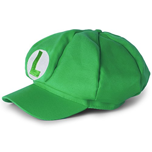 Katara 0742128732134 Super Mario Luigi Mütze für Erwachsene oder Kinder, Grün (Mario Und Luigi Kostüm Für Erwachsene)