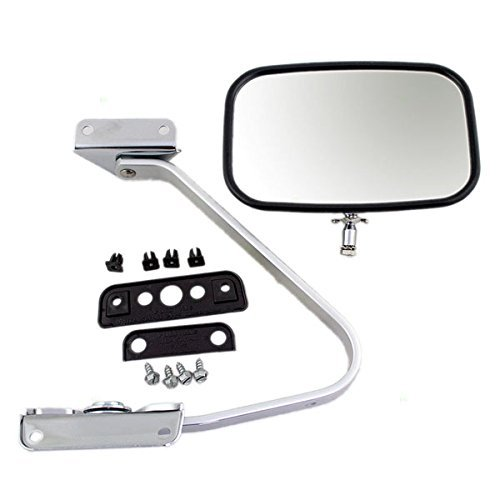 1987-1991 Ford Bronco & Pickup Truck F100, F150, F250, F350 Manual Chrome Folding Universal Swing Lock Type (Door Mount) Rear View Mirror: Fits Driver Left or Passenger Right Hand Side (1987 87 1988 88 1989 89 1990 90 1991 91) by Aftermarket Auto Parts