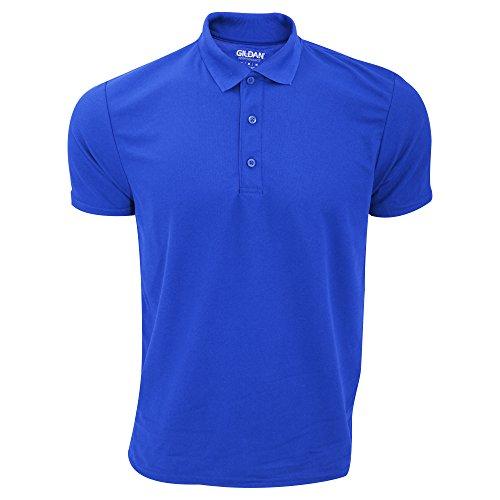 Gildan Herren Performance Sport Double Pique Polo-Shirt Königsblau
