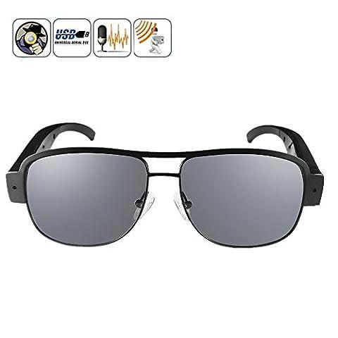 Oumeiou 1080P 30FPS Eyewear Sunglasses with Camera Video Recorder DVR glasses Camcorder 5 Mega Pixels 1920X1080 Sports Camera