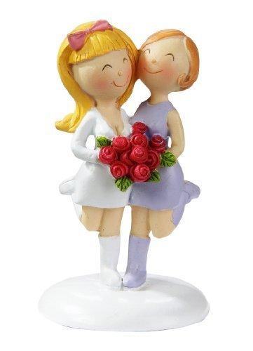 Lesbisches Hochzeitspaar: Frauen-Brautpaar, 9 cm, Polyresin